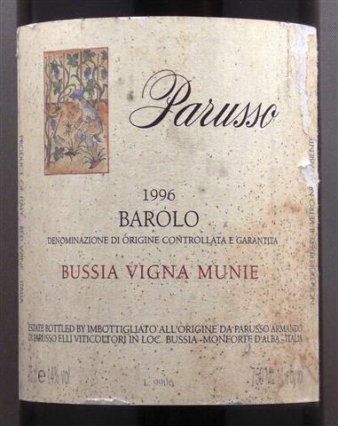 Prunotto Barolo Bussia 1996 Magnum